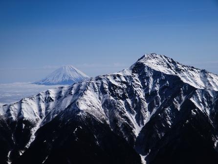 北岳と富士山
