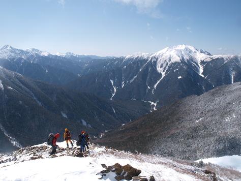 甲斐駒ヶ岳からの下山