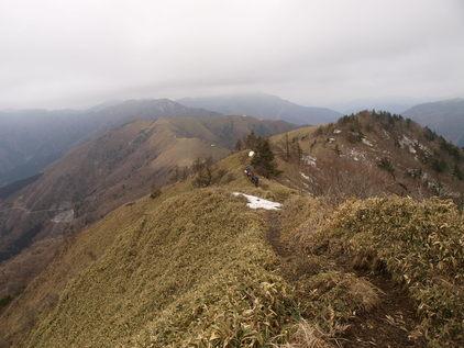 剣山脈のパノラマ