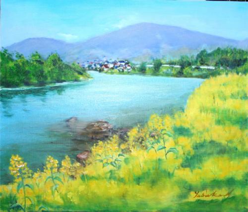 春の千曲川
