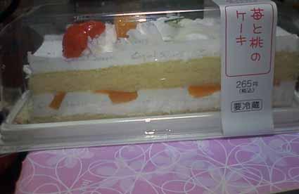 ももいちごケーキ?