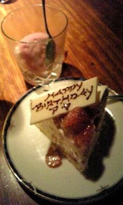 誕生日ケーキ&巨峰シャーベット