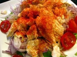ゆで魚のエスニックサラダ