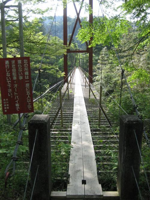 キャンプ場近くの吊橋1