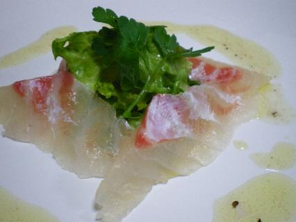 鯛の昆布〆 カルパッチョ風