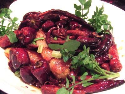 大正海老と唐辛子の炒め