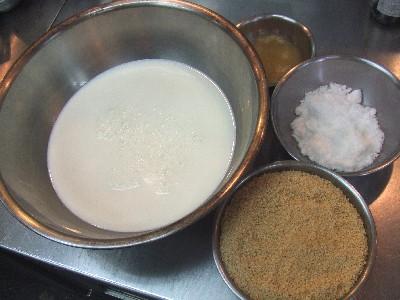 白胡麻プリン(材料)