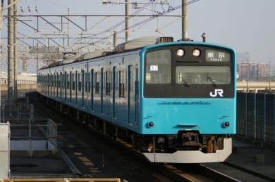 青い201系