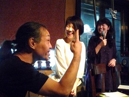 g村山義光氏、朗読「COSUMOS」 勝矢敦子さん 横田礼子さん