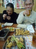 g村山義光氏と二番弟子さんと串カツ屋さんで