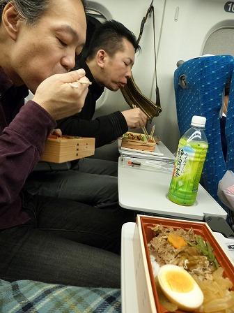 g村山義光氏お友達、新幹線のぞみで帰宅