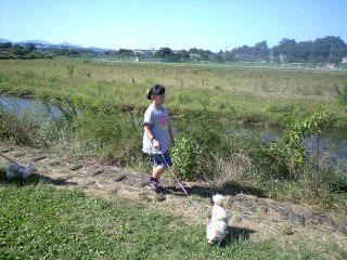 090920阿須の公園実織とベリー