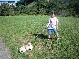 090920阿須の公園実織とベリー2
