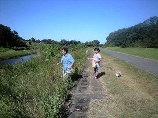 090920阿須の公園実織とパパススキ