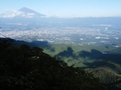 登山道からの富士