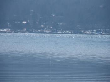 キラキラ光輝く湖面
