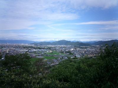 三井山山頂から見える金華山