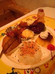 熊本市東部のカフェレア(CAFE REA)で夜の日替わり定食セット♪
