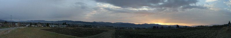 朝焼けパノラマ20081209