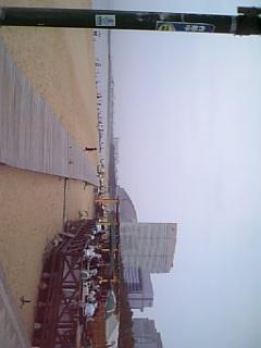 マリゾンの砂浜とドームとシーホークホテル