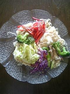 彩り野菜の冷麺