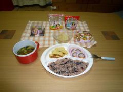 お雛祭の夕食