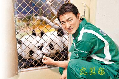 華仔「パンダってほんとにかわいいなぁ」