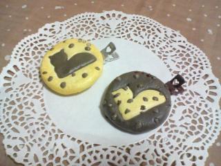 「ホームメイド猫クッキーブローチ&ヘアピン」