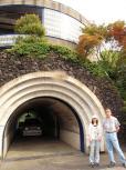 トンネルのある別荘!で温泉~♪