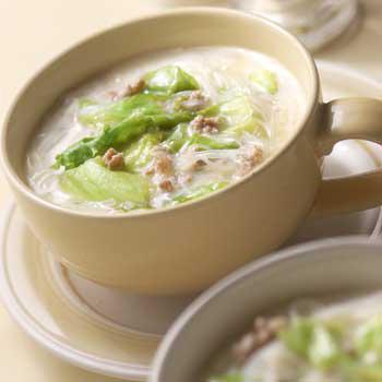 豆乳納豆スープ