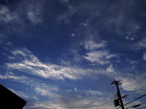 今日の早朝の空@自宅前(by IXY DIGITAL 910IS)