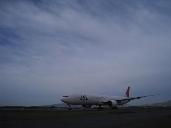 JAL B777-346ER JL3002@東水門(by IXY DIGITAL 910IS)