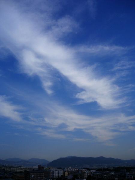 五月山方面の空@瑞ヶ池公園付近(by IXY DIGITAL L3)