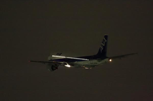 ANA A320 NH739@RWY14Rエンド(by 40D with EF100-400)