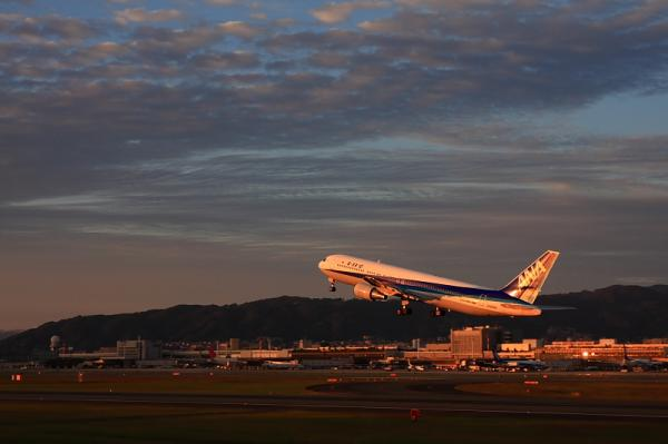 ANA B767-381 NH737@伊丹スカイパーク(by 40D with SIGMA 18-50)