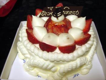みーママの誕生日ケーキ