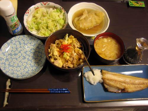 2008年11月6日の晩御飯