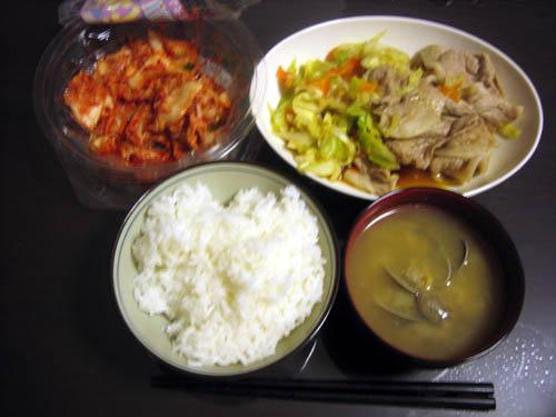 今日の晩飯 2008/11/13