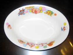 アンパンマンのカレーライス皿