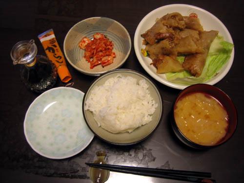 2008年11月19日の晩御飯