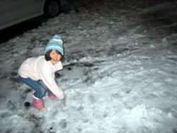 こんなに雪降ったよ