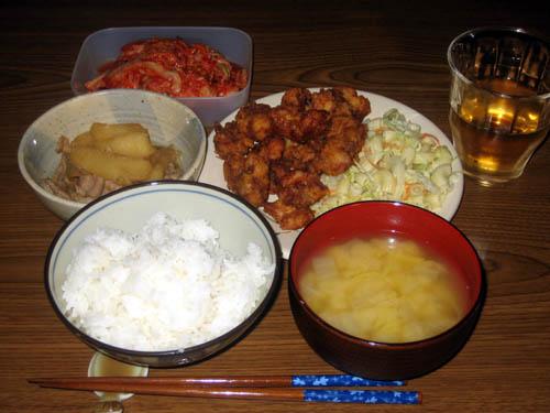 2008年12月3日の晩御飯