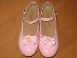 ちーちゃんの発表会用の靴