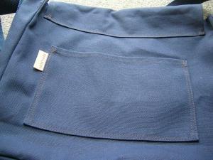 帆布斜めがけ裏ポケット