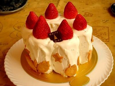 先生作:キャンドルケーキ