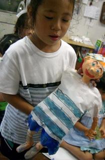 岡田のん&人形