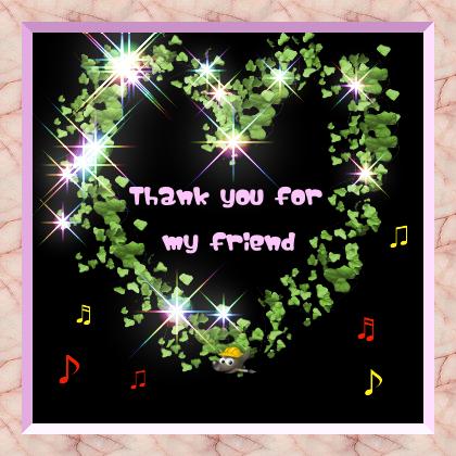 ありがとう(・。- )ノ~・゚★,。・:*:・゚☆ウフッ♪