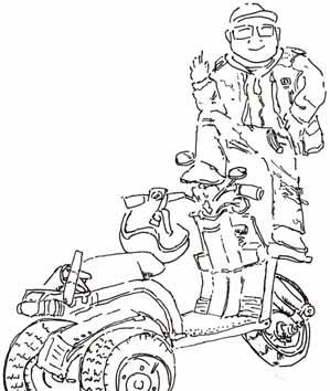 バイクに乗って…って、それ間違えてます
