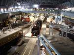 重要文化財クラスの機関車など実物車両が沢山あるヒストリーゾーン