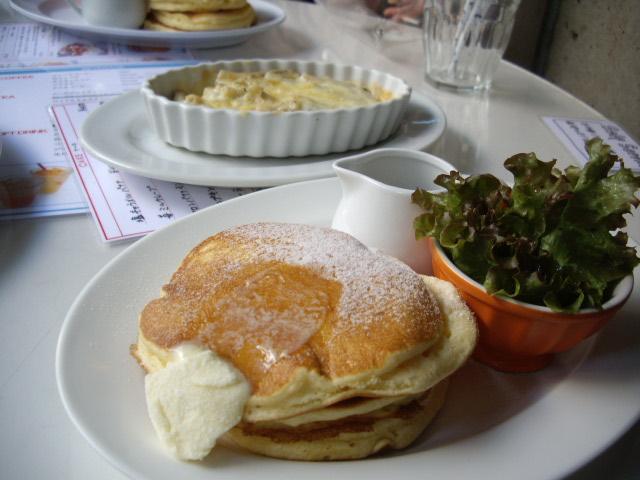 チーズマカロニ&パンケーキ